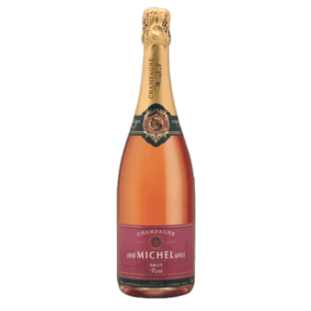 champagne bouteille rose